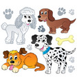 image with dog topic 3 vector image vector image