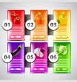 infographics with vegetables in colorful vector image vector image