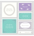 invitation cards and templates set vector image vector image