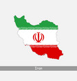 iran map flag vector image