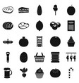 kine icons set simple style vector image