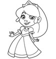 little princess line art vector image