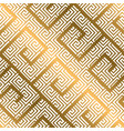 luxury gold asian meander style seamless pattern vector image vector image