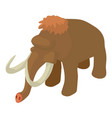 mammoth icon isometric style vector image