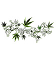 marijuana cannabis green leaf texture background vector image
