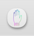 nfc bracelet app icon vector image vector image