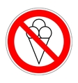 No ice cream symbol 104 vector image vector image