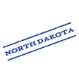 North Dakota Watermark Stamp vector image