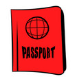 passport icon cartoon vector image vector image