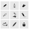 pencil icon set vector image vector image