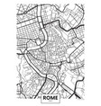 poster map city rome vector image vector image