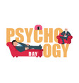 psychology day consultation of psychotherapist vector image vector image