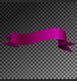 realistic shiny violet ribbon banner isolated vector image vector image