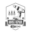 rgbhouse repair monochrome white vector image vector image