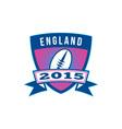 Rugby Ball England 2015 Shield Retro vector image vector image