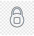 safe concept linear icon isolated on transparent vector image