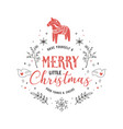 scandinavian simple and stylish merry vector image