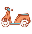 scooter bike isolated icon vector image vector image