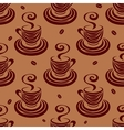 Seamless pattern coffee cups and beans vector image