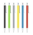 set of ballpoint pens vector image