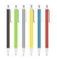 set of ballpoint pens vector image vector image