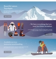 set of Ski and Snowboard equipment banners vector image