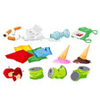 set of waste on white background vector image