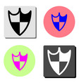 shield guard flat icon vector image vector image