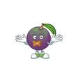 silent star apple character in cartoon mascot vector image vector image