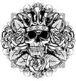 skull corona rose vector image vector image