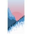 snowy landscape vector image