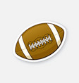 sticker leather american football ball vector image