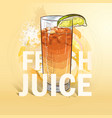 summer fresh juice cocktail vector image
