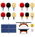 table tennis set table tennis complete set vector image