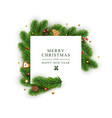 template for christmas and new year with white vector image vector image