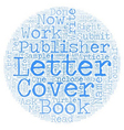 THE COVER LETTER made easy text background vector image vector image