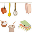tiny women in the kitchen vector image