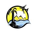Travel vacation emblem vector image