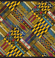 tribal african style fabric diagonal patchwork vector image