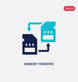 two color memory transfer icon from artificial vector image vector image