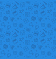 video games blue seamless outline pattern vector image