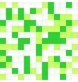 White and green mosaic seamless pattern vector image vector image