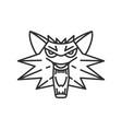 wolf head icon vector image
