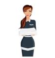 Woman hotel maid portrait vector image