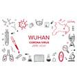 wuhan coronavirus 2019 hand drawn vector image vector image