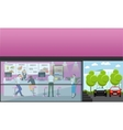 set of banners with cafe interiors Fast vector image