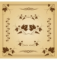 Vine seamless frame vector image