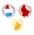 made in Luxembourg stamp vector image