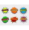 Set of colorful comic speech bubbles vector image