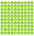 100 war crimes icons set green circle vector image vector image